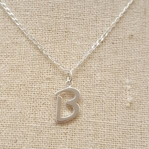 Jewelry - Sterling Silver Letter B Necklace